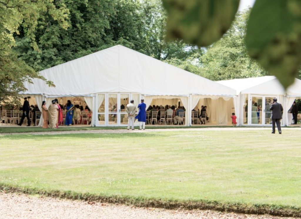 Asian Wedding Marquee with Rolled Sides