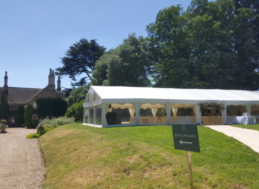 Clearspan Gable End Wedding Marquee