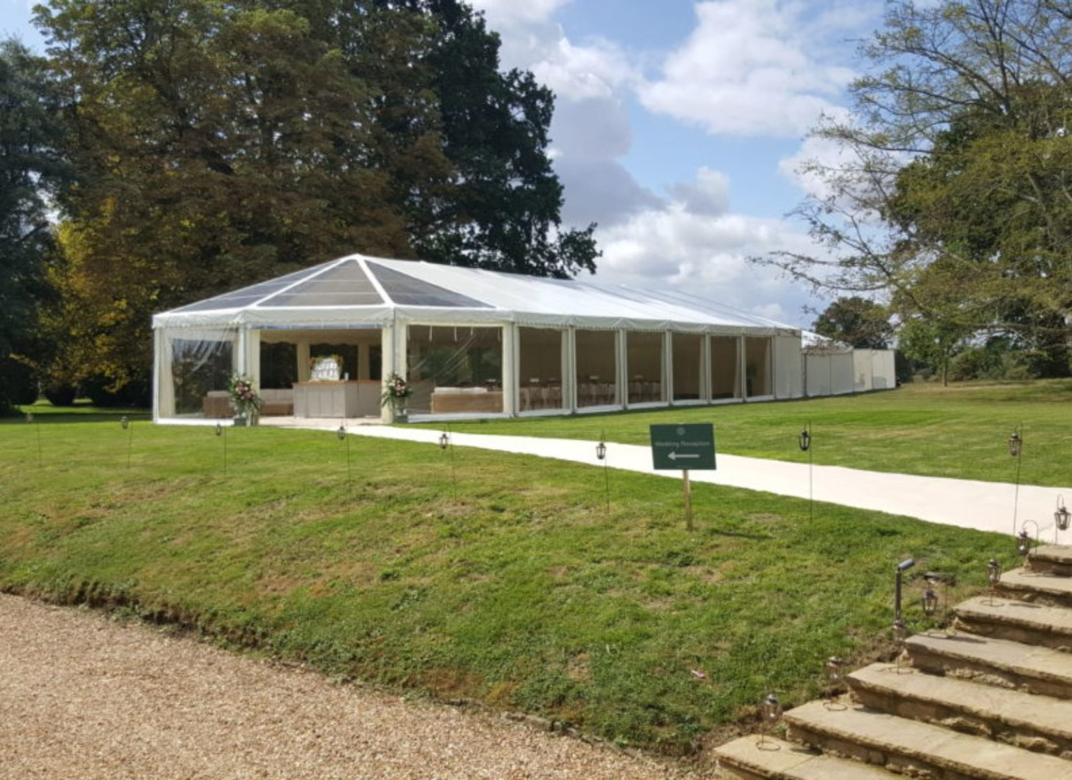 Clearspan Hex-end Wedding Marquee
