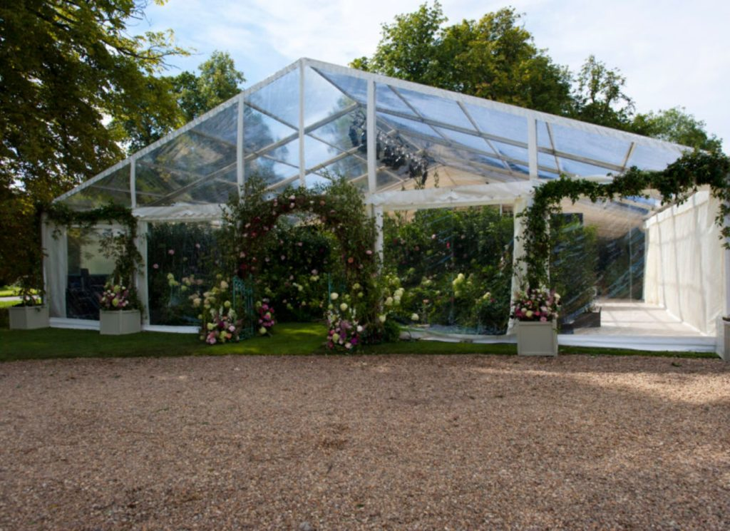 Flower Themed Wedding Marquee