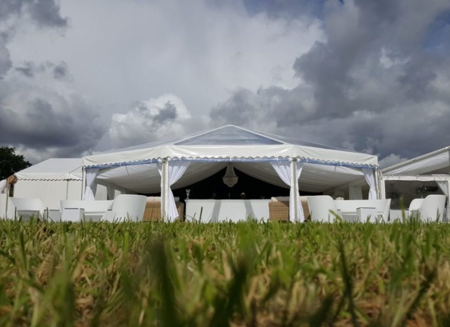 Full Clearspan Hex-end Wedding Marquee
