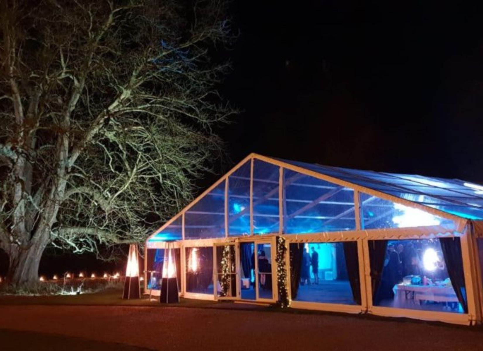 Full Clearspan Party Marquee