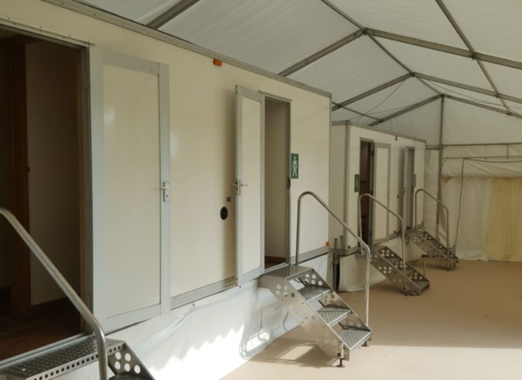 Luxury Toilets Intergrated into Marquee