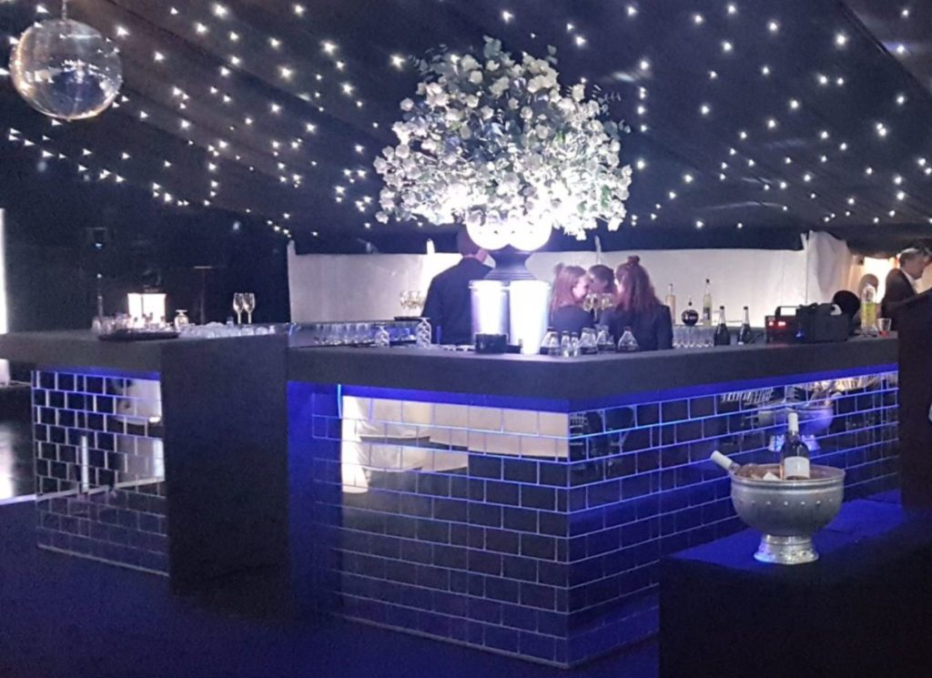 Mirror Bar Inside Party Marquee