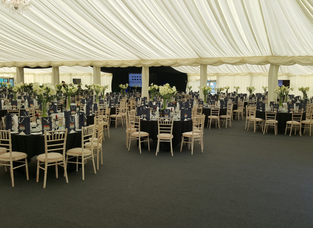 Northampton Saints Gala Dinner Marquee for 1000 Guests