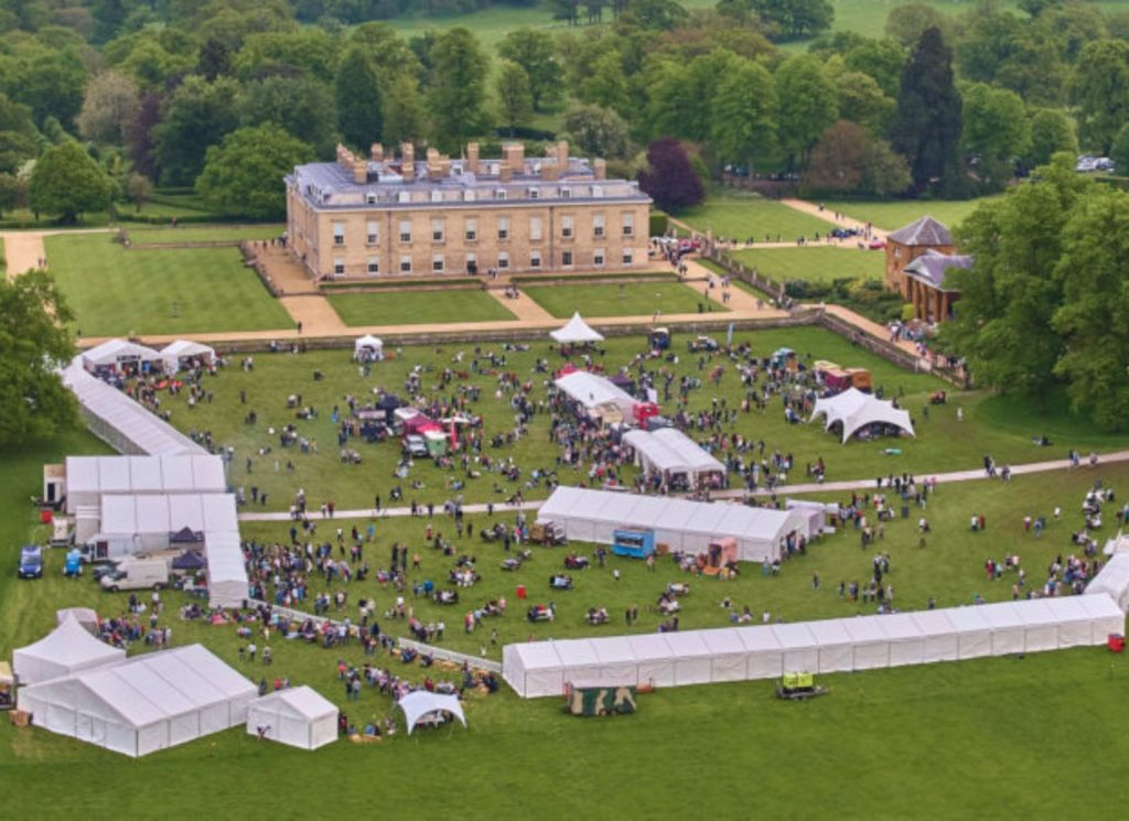 Overhead View of Corporate Event Marquees