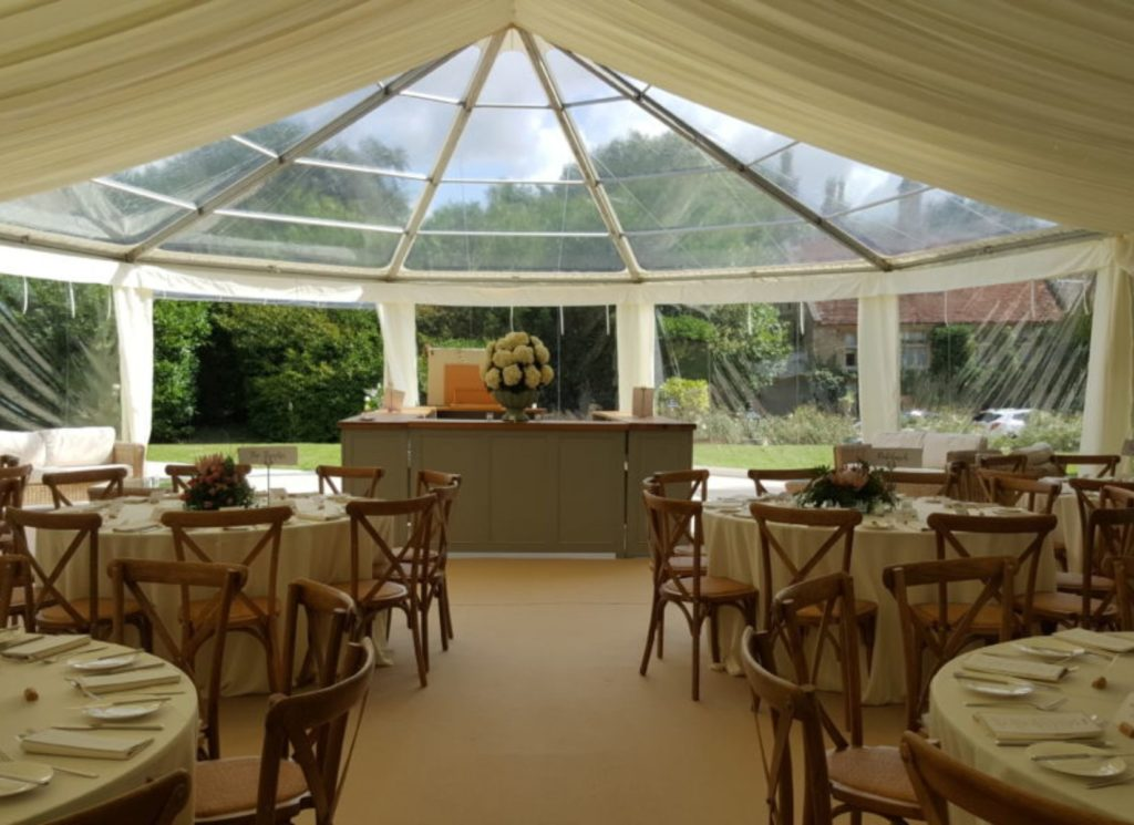 Panoramic Hex-end Wedding Marquee