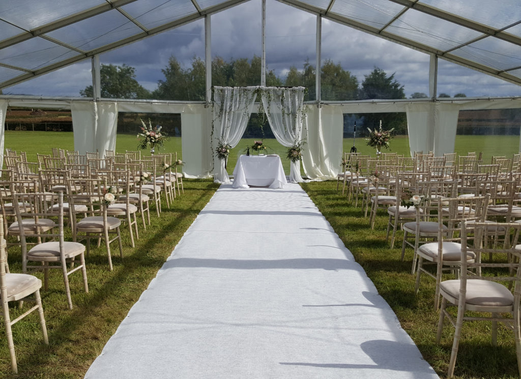 Panoramic Wedding Reception Marquee