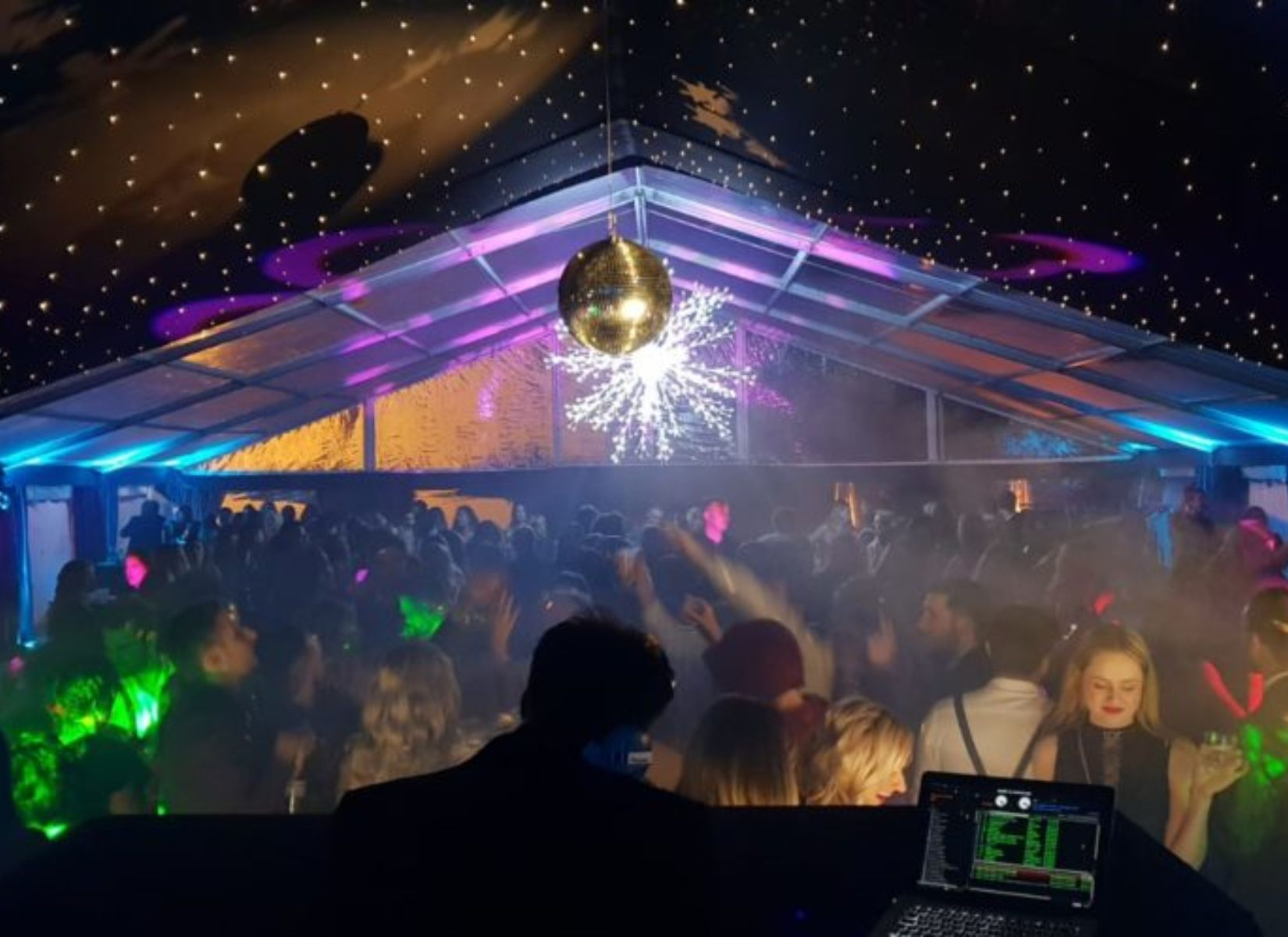 Part Clearspan Gable End Party Marquee