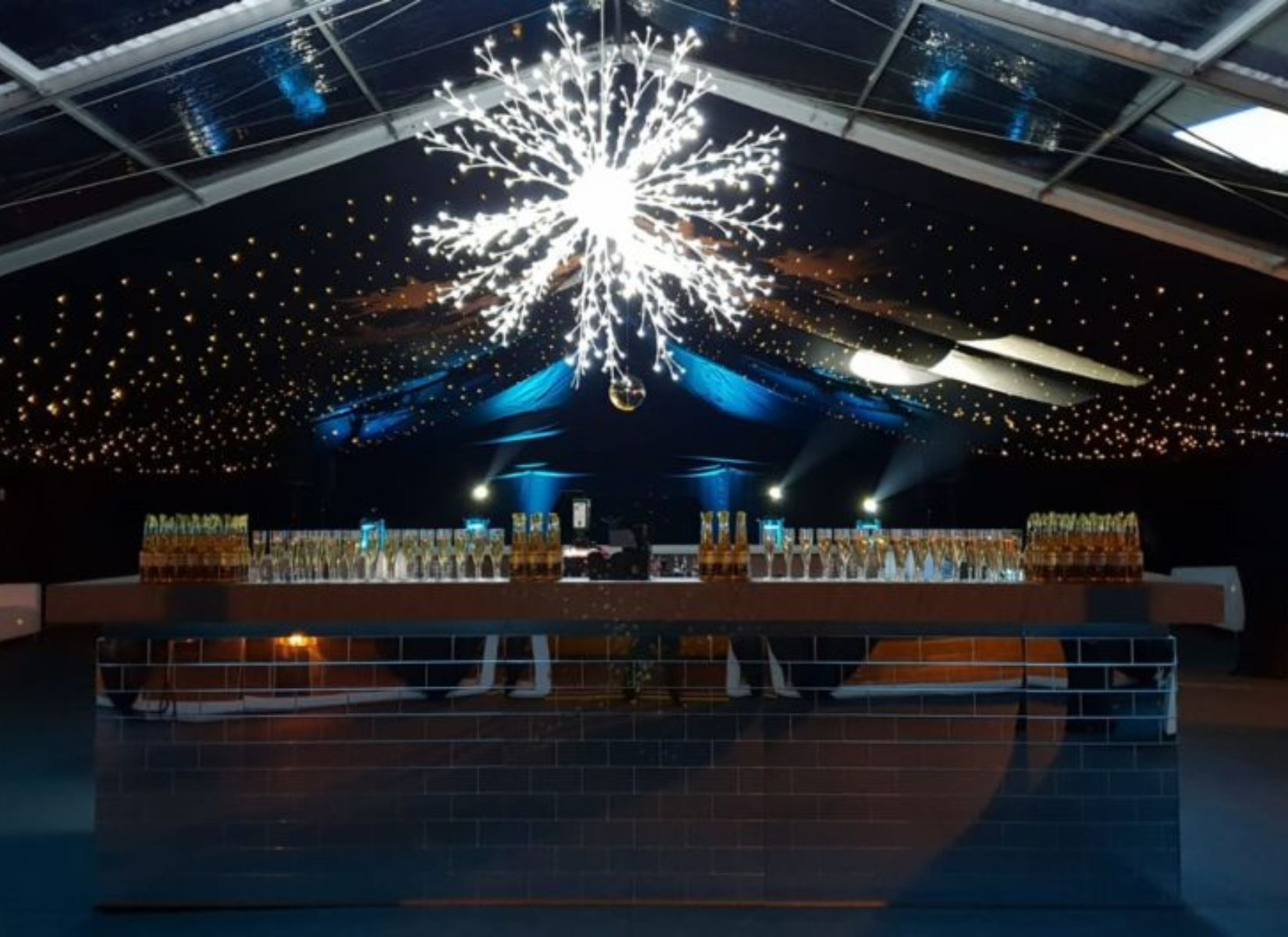 Party Marquee with Mirror Bar