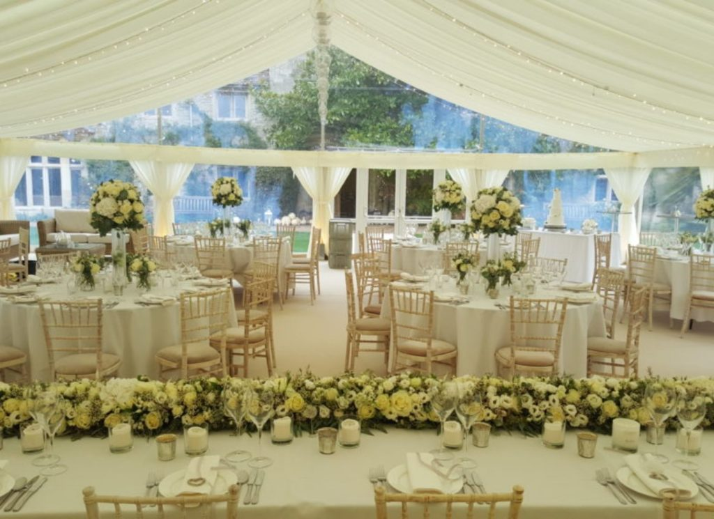Pleated Ivory Lining Wedding Marquee