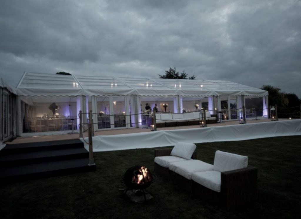 Raised Wedding Marquee with Decked Seating Area
