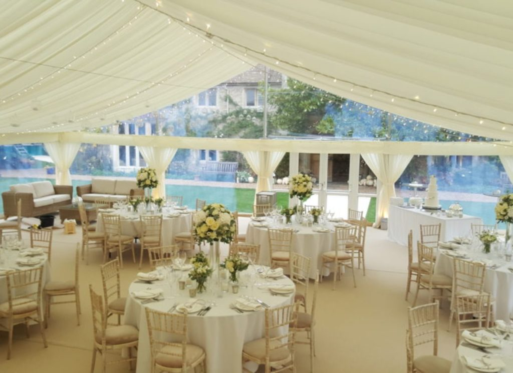 Wedding Marquee with Flat Pelmet