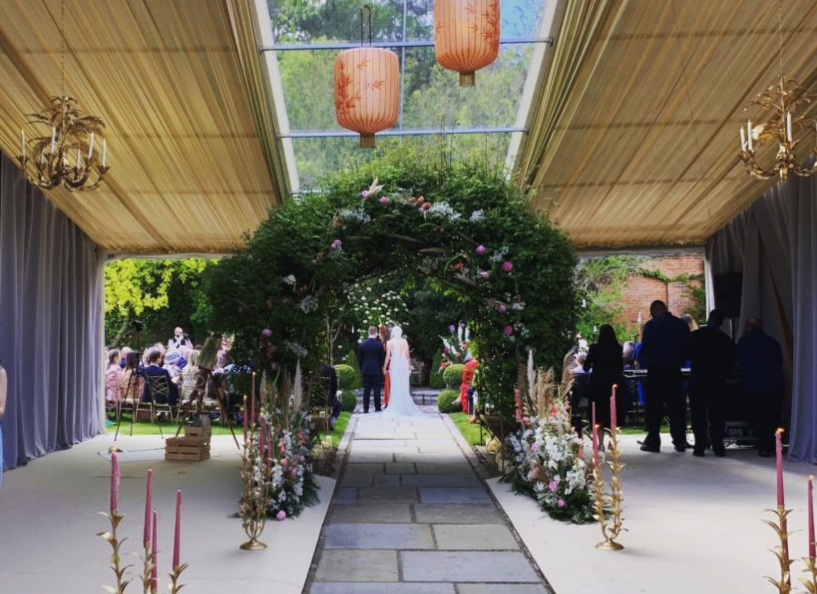 Wedding Marquee with Part Clearspan Roof