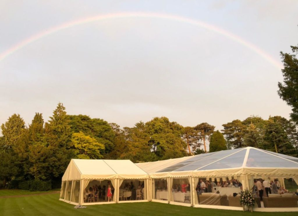 Wedding Marquee with Part Panoramic Roof