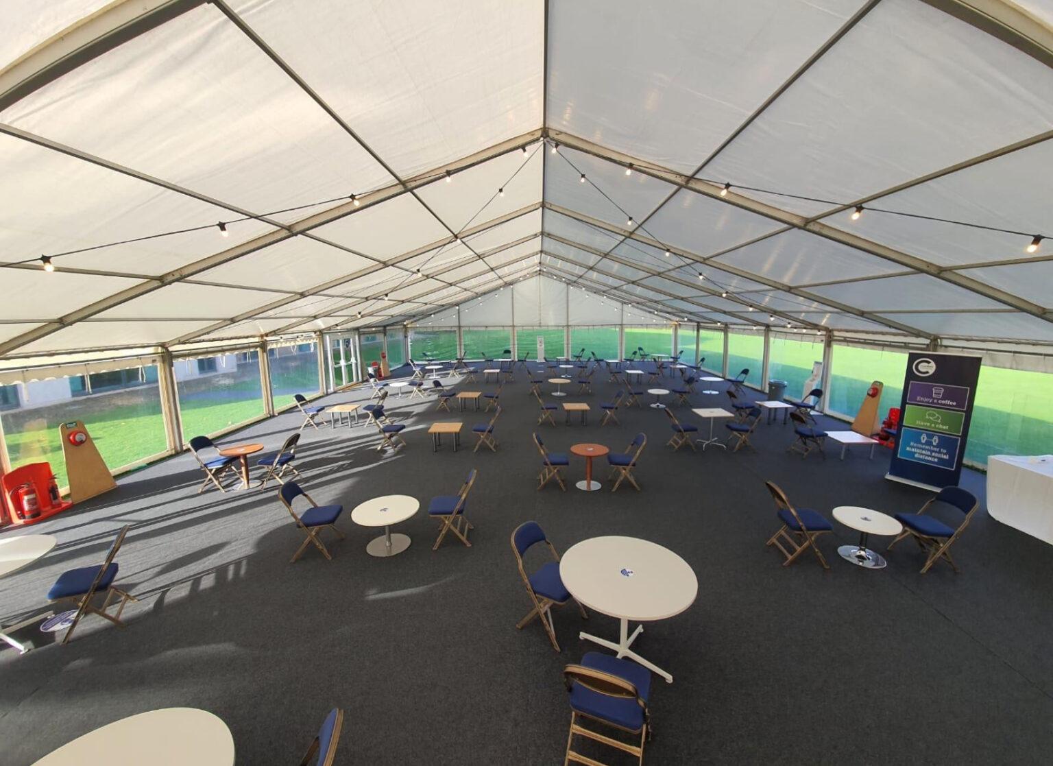 Cranfield University temporary structure